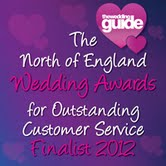 North of England Wedding Awards Finalist 2012