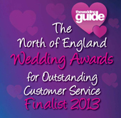 North of England Wedding Awards Finalist 2013